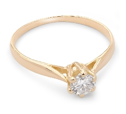 """Помолвочное кольцо с бриллиантом """"Чистая 17"""""""