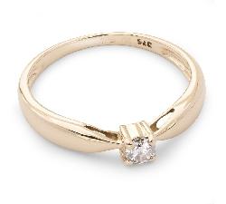 """Saderināšanās gredzens ar briljantu """"Elegance 8"""""""