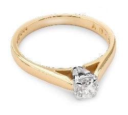 """Saderināšanās gredzens ar briljantu """"Dieviete 25"""""""