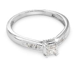 """Золотое кольцо с алмазами """"Грациозность 27"""""""