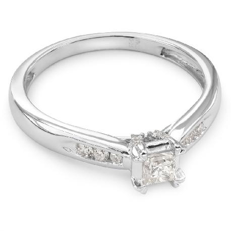 """Помолвочное кольцо с алмазами """"Грациозность 27"""""""