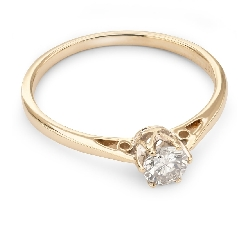 """Золотое кольцо с  бриллиантом """"Единственная 50"""""""