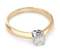 """Золотое кольцо с  бриллиантом """"Прочность 44"""""""