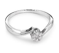 "Золотое кольцо с бриллиантами ""В объятиях любви 12"""