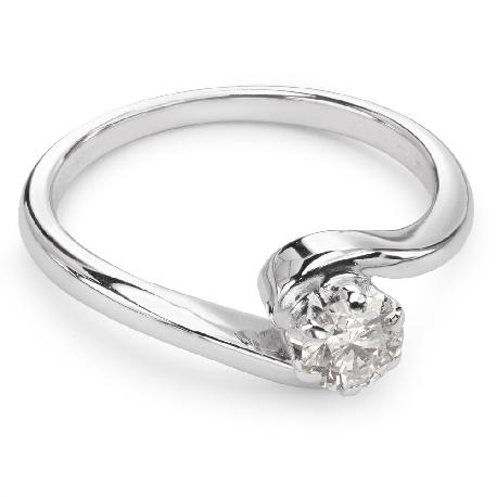 """Помолвочное кольцо с бриллиантом """"Вихрь 7"""""""