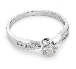 """Золотое кольцо с алмазами """"Грациозность 38"""""""