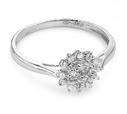 """Помолвочное кольцо с алмазами """"Бриллиантовый букет 17"""""""