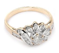 "Золотое кольцо с Бриллиантами ""Корона 9"""