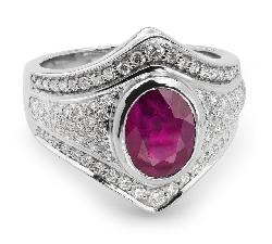"""Золотое кольцо с драгоценными камнями """"Рубин 8"""""""