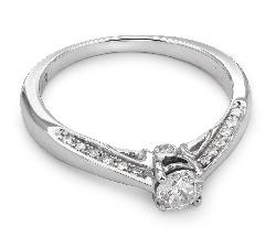 """Золотое кольцо с бриллиантами """"Грациозность 46"""""""