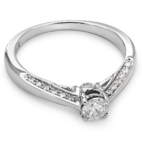 """Помолвочное кольцо с Бриллиантами """"Грациозность 46"""""""