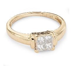 """Помолвочное кольцо с алмазами """"Принцессы 29"""""""
