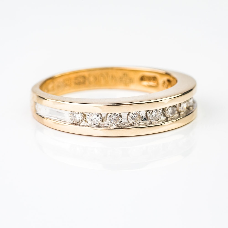 "Zelta gredzens ar briljantiem ""Dimanta jostīte 2"""