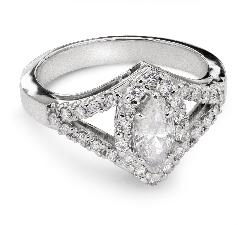 """Золотое кольцо с Aлмазами """"Корона 10"""""""