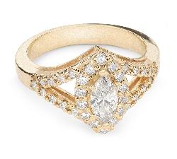 """Золотое кольцо с Aлмазами """"Корона 11"""""""