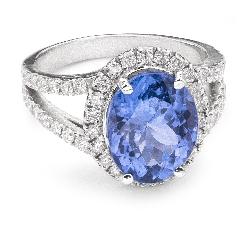 """Золотое кольцо с драгоценными камнями """"Корона 12"""""""