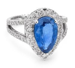 """Золотое кольцо с драгоценными камнями """"Корона 13"""""""