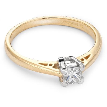 """Помолвочное кольцо с Aлмазом """"Принцесса 18"""""""