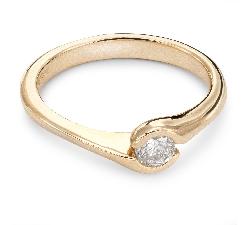 """Помолвочное кольцо с Бриллиантом """"Объятная 17"""""""