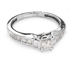 """Помолвочное кольцо с Бриллиантами """"Грациозность 53"""""""