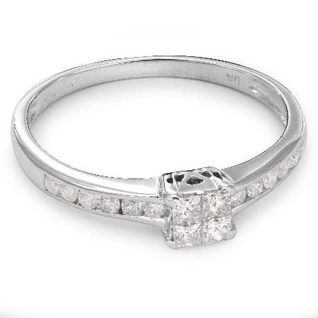 """Помолвочное кольцо с алмазами """"Принцессы 30"""""""