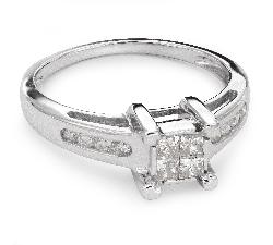 """Помолвочное кольцо с алмазами """"Принцессы 31"""""""