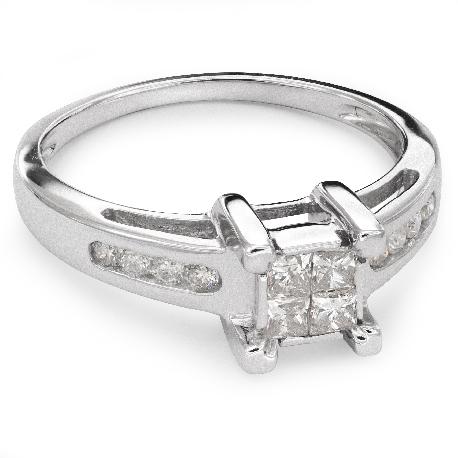 """Saderināšanās gredzens ar Dimantiem """"Princeses 31"""""""