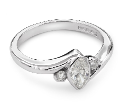 """Saderināšanās gredzens ar Dimantiem """"Triloģija 8"""""""