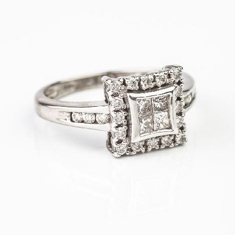 """Золотое кольцо с Aлмазами """"Принцессы 17"""""""