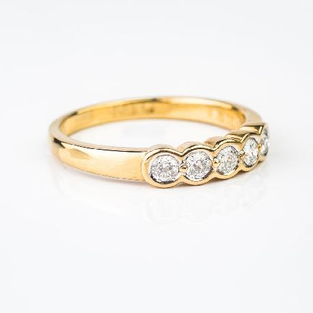 "Zelta gredzens ar briljantiem""Dimanta jostīte 3"""