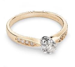 """Помолвочное кольцо с Бриллиантами """"Грациозность 58"""""""