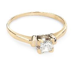 """Saderināšanās gredzens ar Dimantu """"Princese 19"""""""