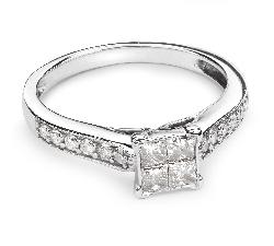 """Saderināšanās gredzens ar Dimantiem """"Princeses 33"""""""
