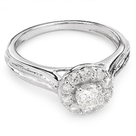 """Золотое кольцо с Бриллиантами """"Бриллиантовый букет 26"""""""