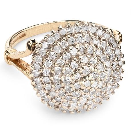 """Золотое кольцо с Бриллиантами """"Бриллиантовый букет 25"""""""