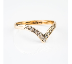 """Auksinis žiedas su Briliantais """"Paukštelis 2"""""""
