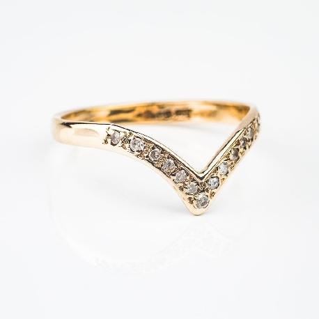 """Золотое кольцо с бриллиантами """"Алмазная полоска7"""""""