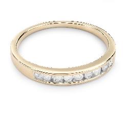 """Золотое кольцо с Бриллиантами """"Алмазная полоска 19"""""""
