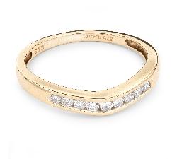 """Золотое кольцо с Бриллиантами """"Алмазная полоска 20"""""""