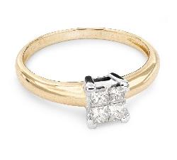 """Помолвочное кольцо с Aлмазами """"Принцессы 34"""""""