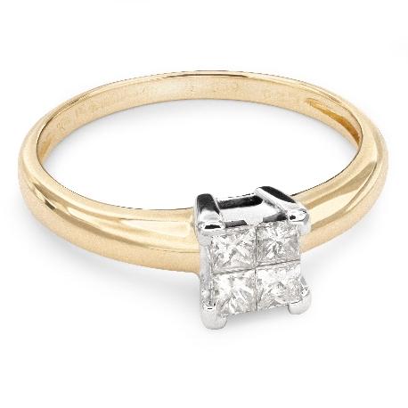 """Saderināšanās gredzens ar Dimantiem """"Princeses 34"""""""