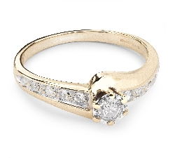 """Zelta gredzens ar Briljantiem """"Dzīve 22"""""""
