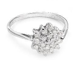 """Золотое кольцо с Бриллиантами """"Бриллиантовый цветок 21"""""""