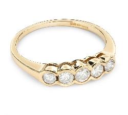 "Zelta gredzens ar Briljantiem ""Dimanta jostīte 22"""