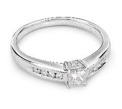 """Помолвочное кольцо с алмазами """"Принцесса 20"""""""