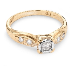 """Помолвочное кольцо с Бриллиантами """"Возлюбленный 38"""""""