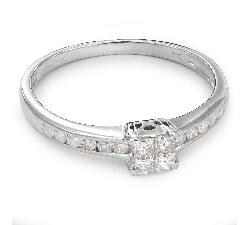"""Помолвочное кольцо с алмазами """"Принцессы 35"""""""