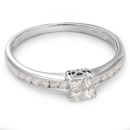 """Saderināšanās gredzens ar Dimantiem """"Princeses 35"""""""
