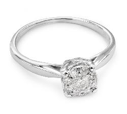 """Золотое кольцо с Бриллиантами """"Бриллиантовый букет 27"""""""