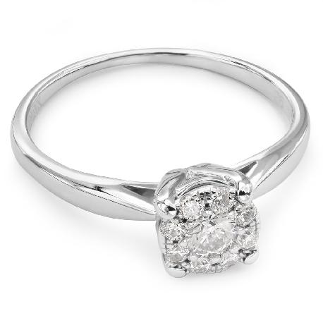"""Помолвочное кольцо с Бриллиантами """"Бриллиантовый букет 27"""""""